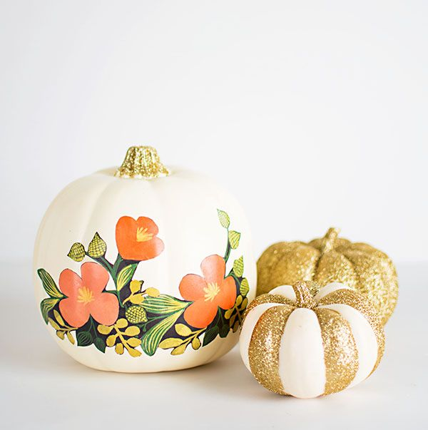 Painted No-Carve Pumpkins #pumpkin #falldecor #nocarve #homedecor #decorhomeideas