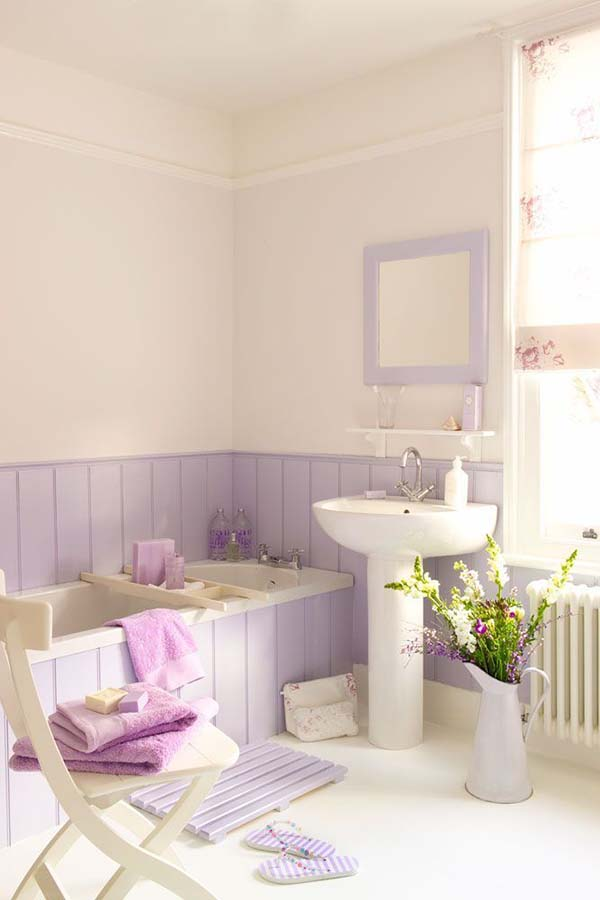 Pale purple bathroom #purplebathroom #purple #bathroom #lavender #bathroomideas #decorhomeideas