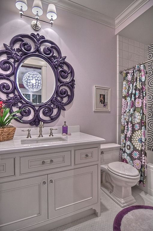 Pastel purple bedroom design #purplebathroom #purple #bathroom #lavender #bathroomideas #decorhomeideas