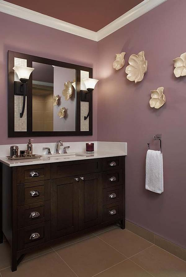 Plum Colored Bathroom #purplebathroom #purple #bathroom #lavender #bathroomideas #decorhomeideas
