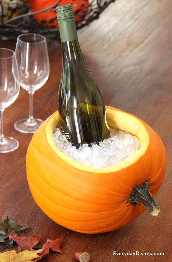 Pumpkin Ice Bucket #pumpkin #carving #halloween #falldecor #decorhomeideas