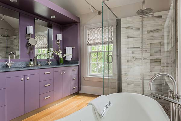 Purple bathroom vanity ideas #purplebathroom #purple #bathroom #lavender #bathroomideas #decorhomeideas