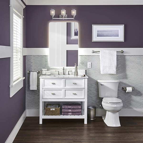 Rich Lavender Bathroom #purplebathroom #purple #bathroom #lavender #bathroomideas #decorhomeideas