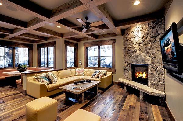 Stone corner fireplace #fireplace #fireplaceideas #corner #decorhomeideas