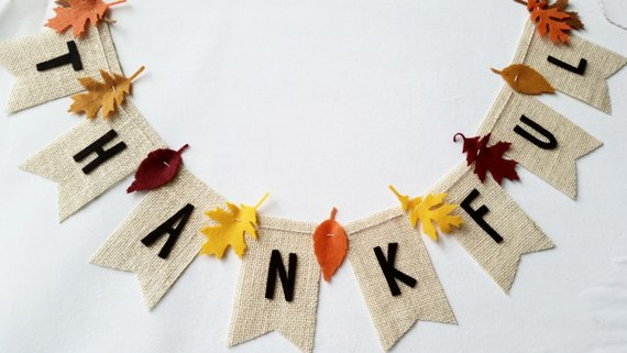 Thankful Burlap Banner #falldecor #etsy #fallideas #falldecoration #decorhomeideas