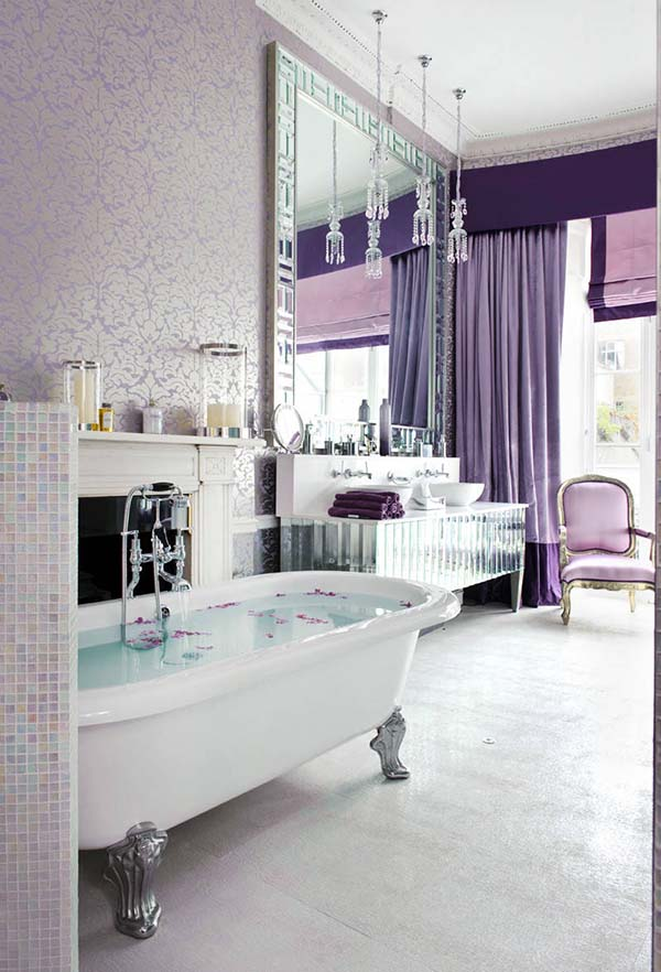 Luxury purple bathroom design #purplebathroom #purple #bathroom #lavender #bathroomideas #decorhomeideas
