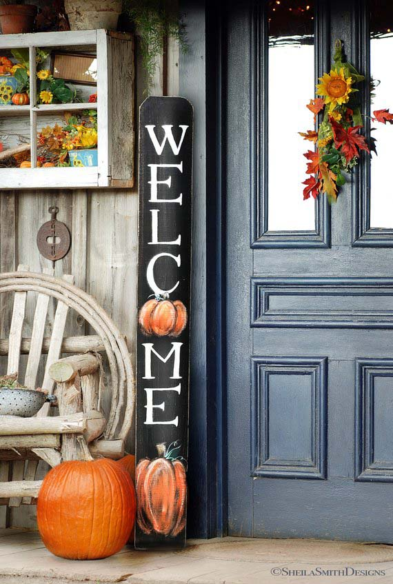 Welcome Sign Fall Decoration For Front Door or Porch #falldecor #etsy #fallideas #falldecoration #decorhomeideas