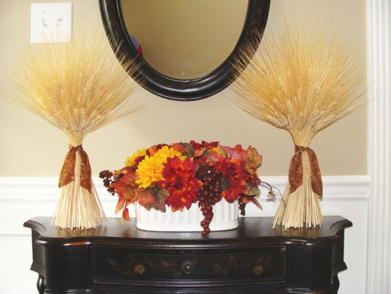 Wheat Sheaves #falldecor #etsy #fallideas #falldecoration #decorhomeideas
