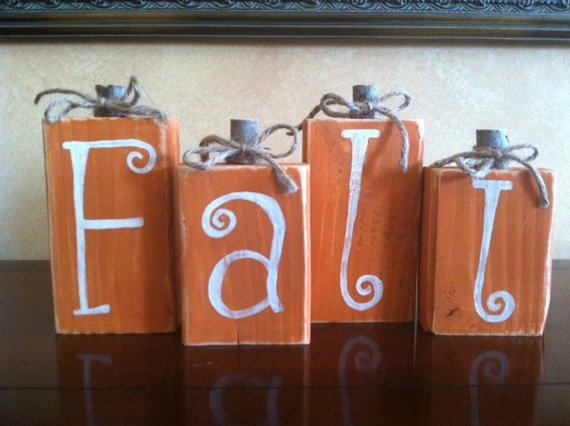 Wood Pumpkin Block Set #falldecor #etsy #fallideas #falldecoration #decorhomeideas
