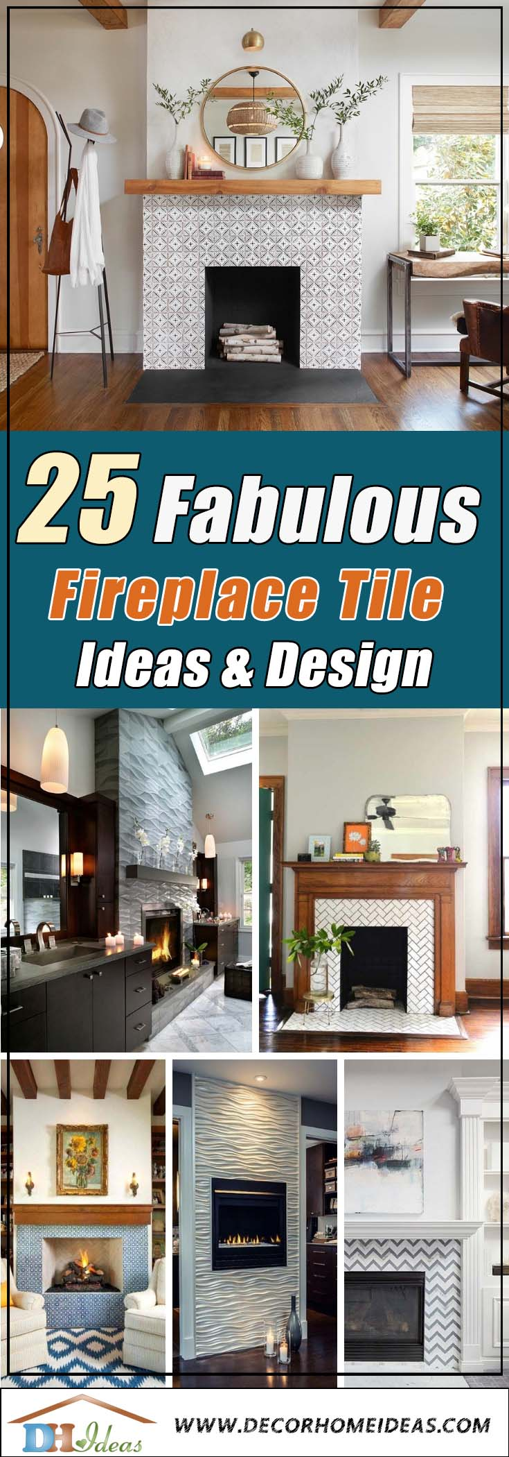 Amazing Fireplace Tile Ideas #fireplace #fireplacedesign #tile #fireplacetile #decorhomeideas