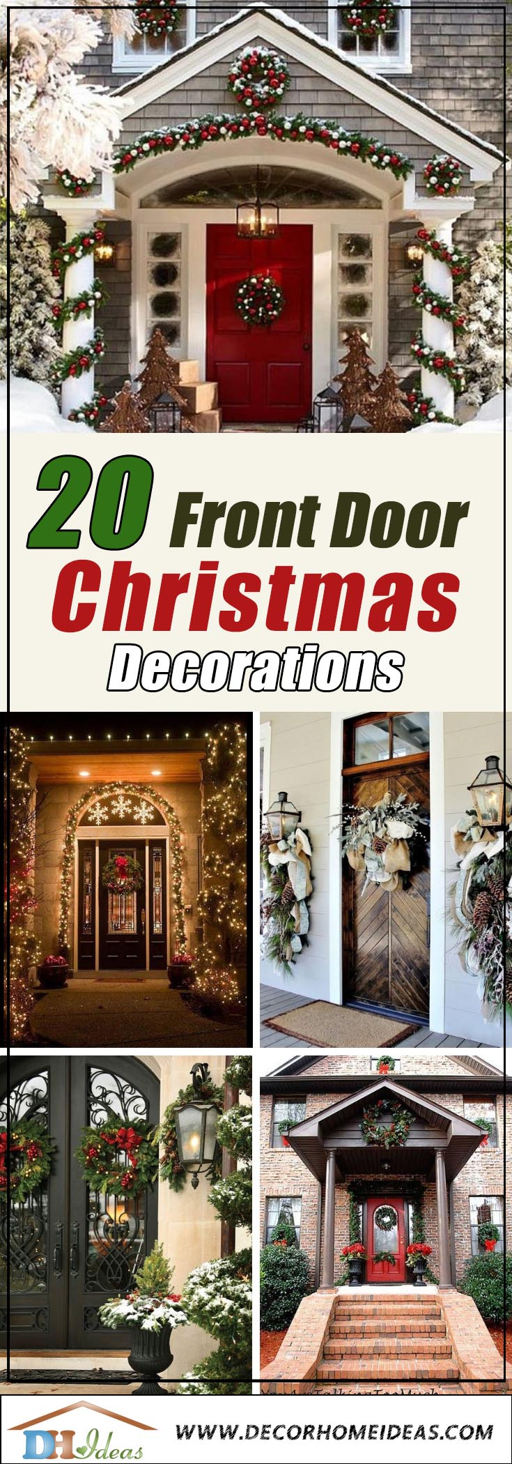 20 Most Inviting Christmas Front Door Decorations | Decor ...