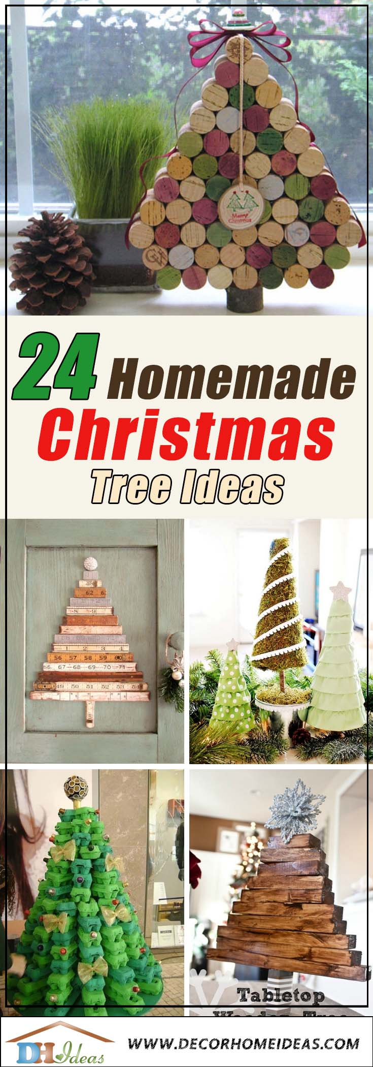 Homemade Christmas Trees #Christmas #Christmastree #homemade #DIY #Christmasdecor #decorhomeideas