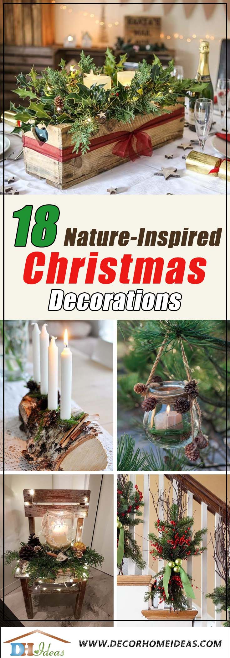 Best Natural Christmas Decorations #Christmas #Christmasdecor #nature #natural #natureinspired #decorhomeideas