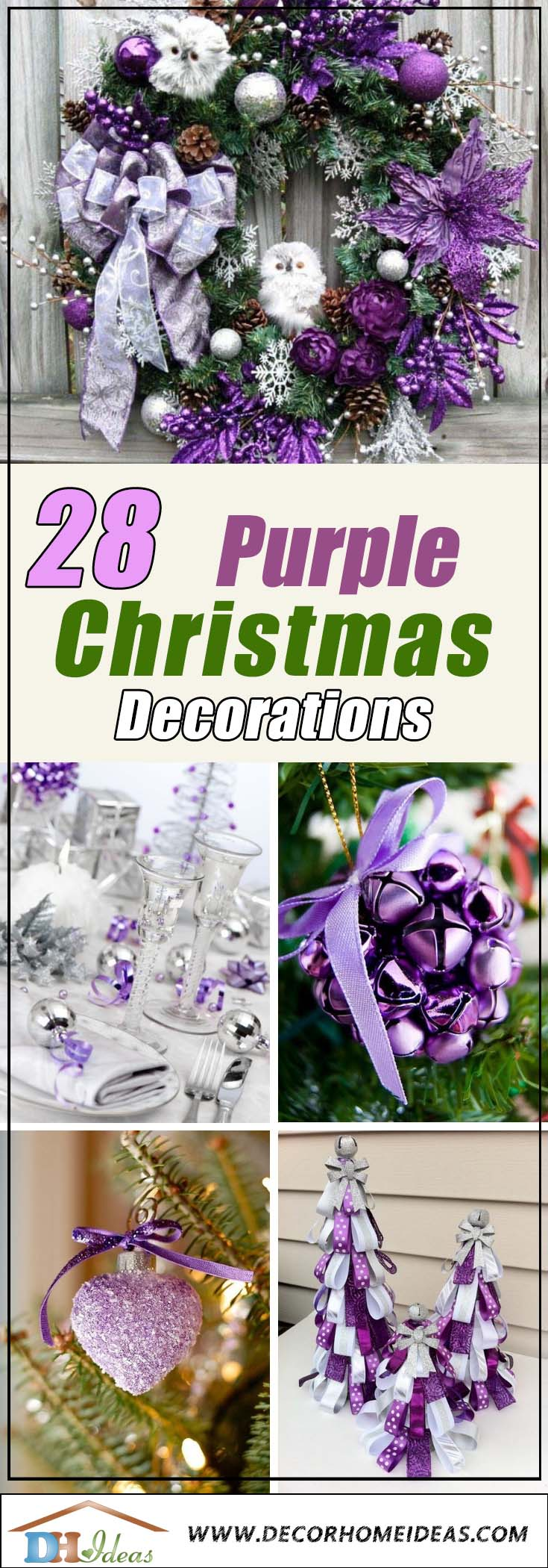 Best Purple Christmas Decorations #Christmasdecor #purple #Christmas #decorhomeideas