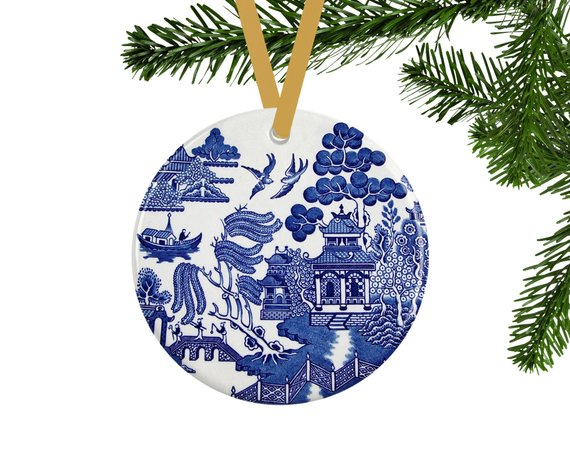 Blue Christmas Ornament #Christmas #Christmasdecor #blue #silver #turquoise #decorhomeideas