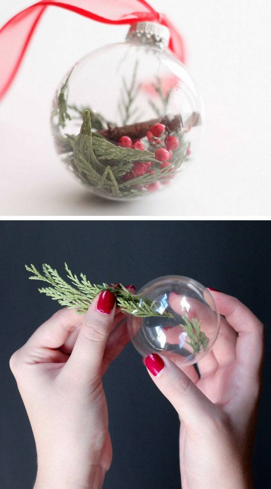 Botanical Christmas Tree Ornaments #Christmas #Christmasdecor #budget #diy #decorhomeideas