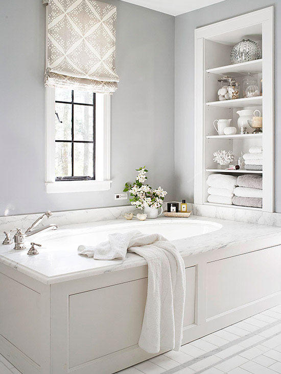 Built-In Bathroom Tub #dropintub #bathtub #tub #ideas #decorhomeideas