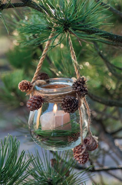 Candle Ornament #Christmas #Christmasdecor #nature #natural #natureinspired #decorhomeideas