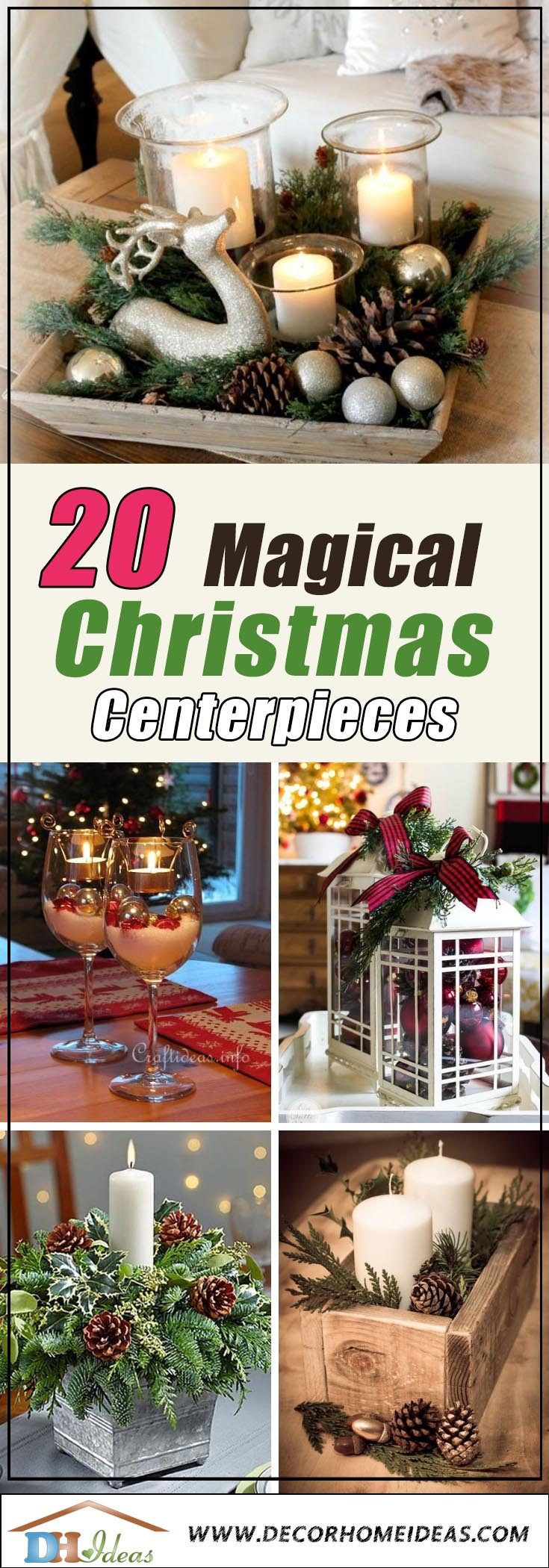Christmas Centerpieces #Christmas #centerpieces #Christmasdecor #decorhomeideas