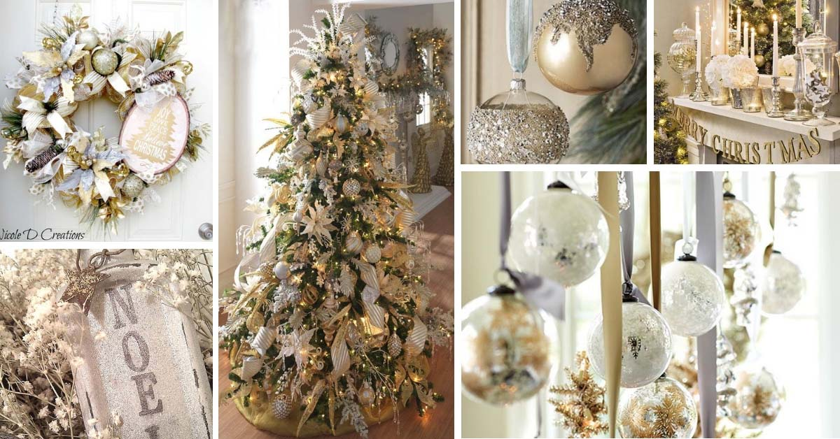 20 Amazing Christmas Decorations In Silver And Gold Decor Home Ideas