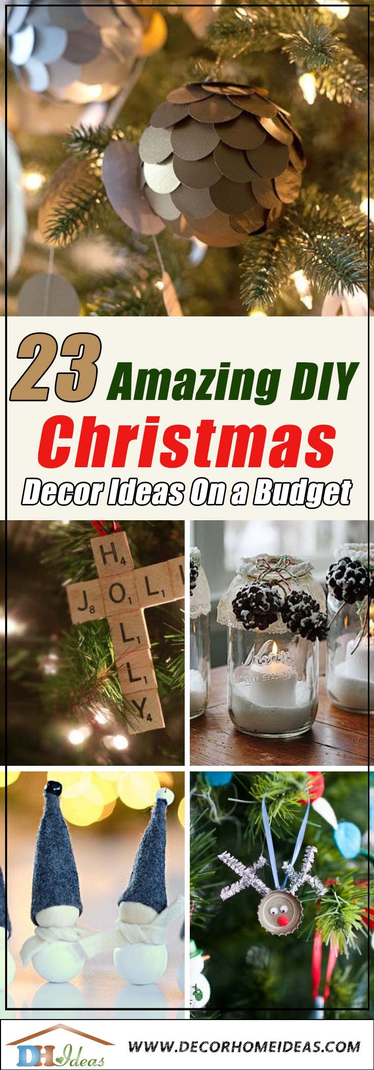 Christmas Decor On a Budget #Christmas #Christmasdecor #budget #diy #decorhomeideas