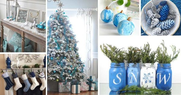 19+ Irresistibly Charming Christmas Decorations In Silver, Blue and Turquoise