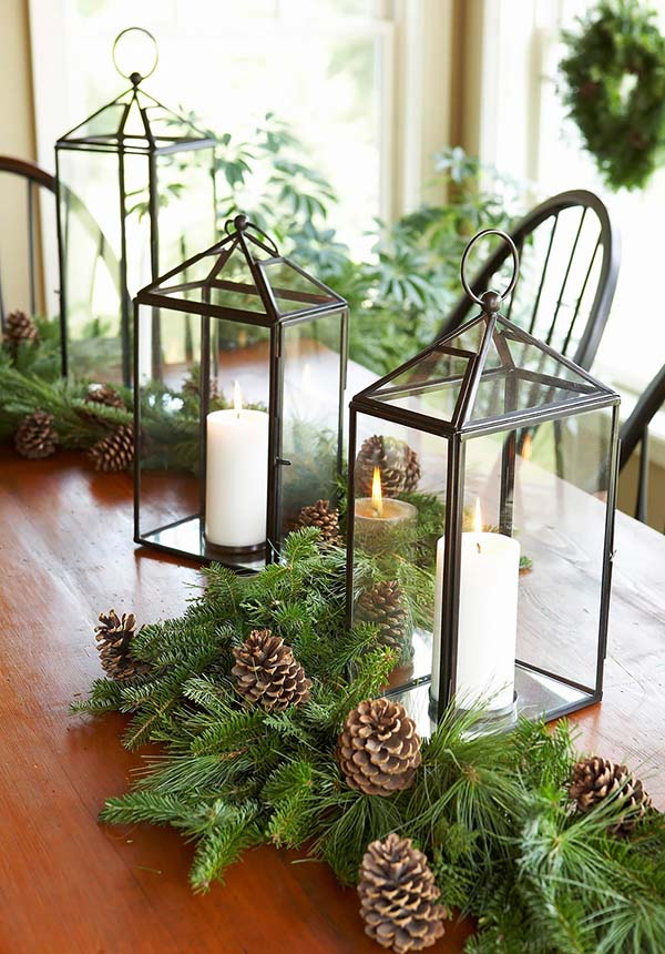 Christmas Lantern light decoration #Christmas #Christmasdecor #nature #natural #natureinspired #decorhomeideas