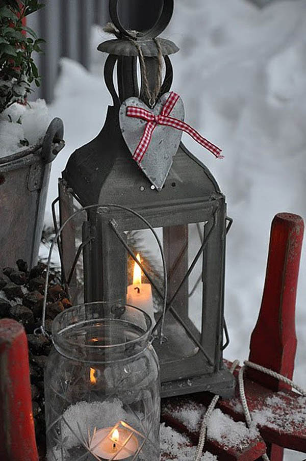 Christmas Lanterns Decoration #Christmasdecor #Christmas #outdoor #decorations #decorhomeideas