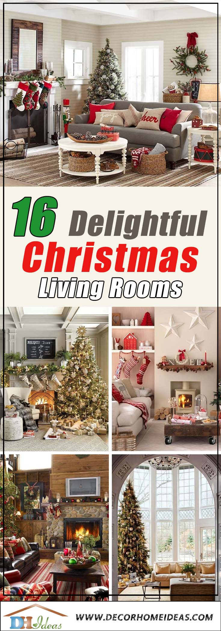 Christmas Living Rooms #Christmasdecor #Christmas #livingroom #decorhomeideas