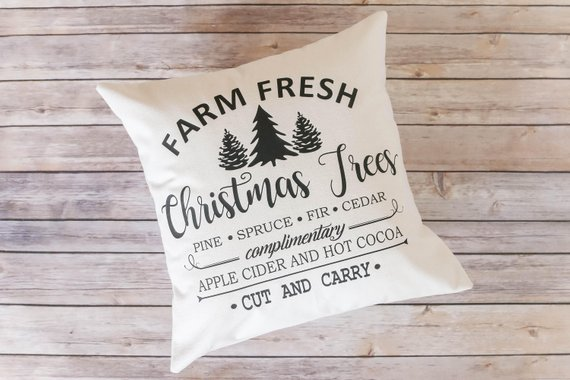 Christmas Pillow Cover #farmhouse #Christmas #Christmasdecor #farmhousedecor #decorhomeideas