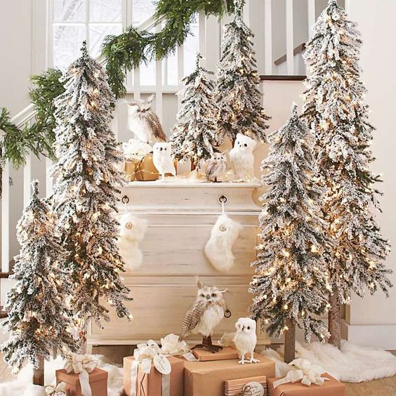 Christmas Staircase In Gold And Silver