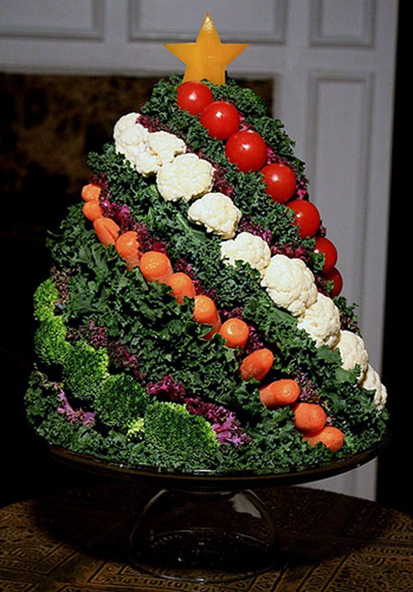 Christmas Veggie Centerpiece