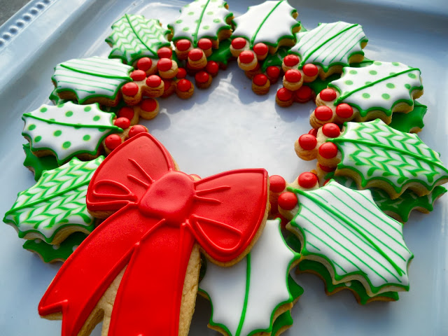 Christmas Wreath Made Of Cookies