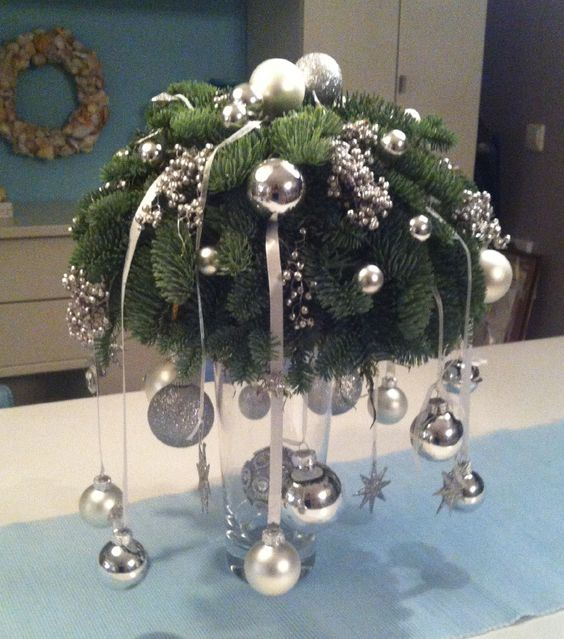 Christmas centerpiece #Christmas #centerpieces #Christmasdecor #decorhomeideas