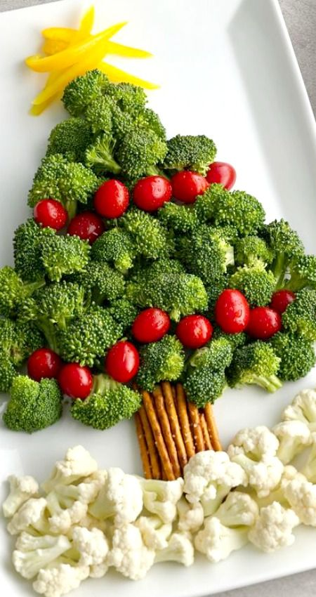 Christmas platter broccoli