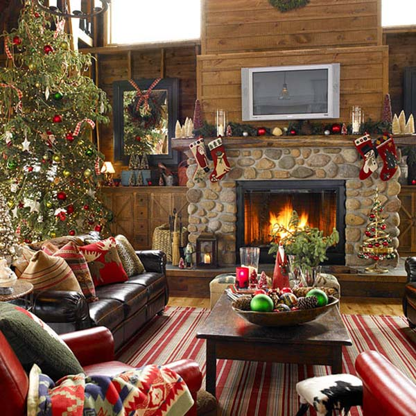 Classic Living Room Christmas Decor #Christmasdecor #Christmas #livingroom #decorhomeideas