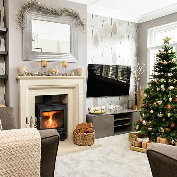 Contemporary Living Room Christmas Decor #Christmasdecor #Christmas #livingroom #decorhomeideas