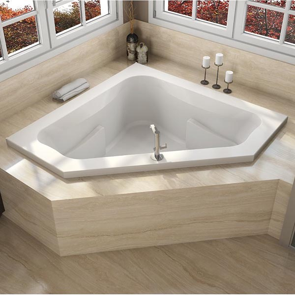 Corner Drop-In Bathtub #dropintub #bathtub #tub #ideas #decorhomeideas