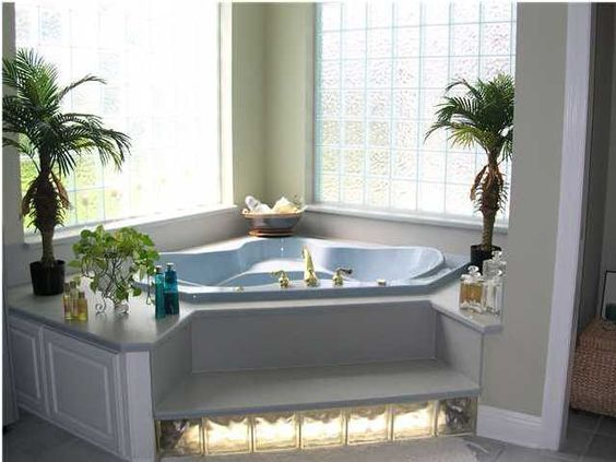 Corner Drop In Luxury Bathtub #dropintub #bathtub #tub #ideas #decorhomeideas