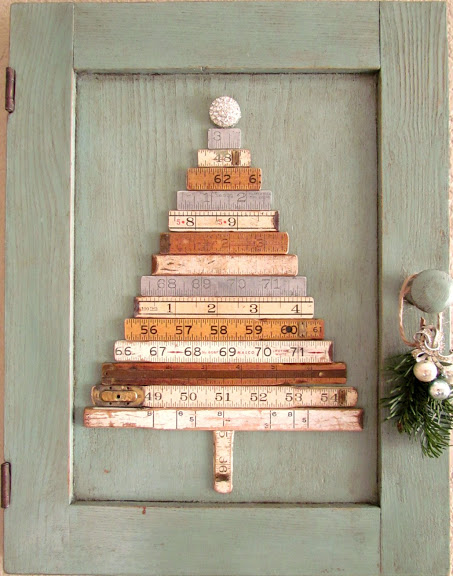 DIY Ruler Christmas Tree #Christmas #Christmastree #homemade #DIY #Christmasdecor #decorhomeideas
