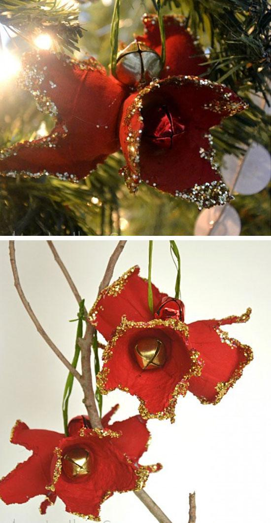 Egg Carton Holiday Amaryllis Ornament #Christmas #Christmasdecor #budget #diy #decorhomeideas