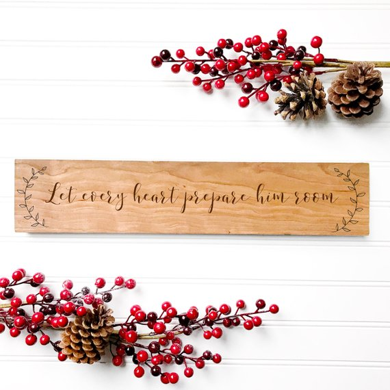 Engraved Christmas Sign #farmhouse #Christmas #Christmasdecor #farmhousedecor #decorhomeideas