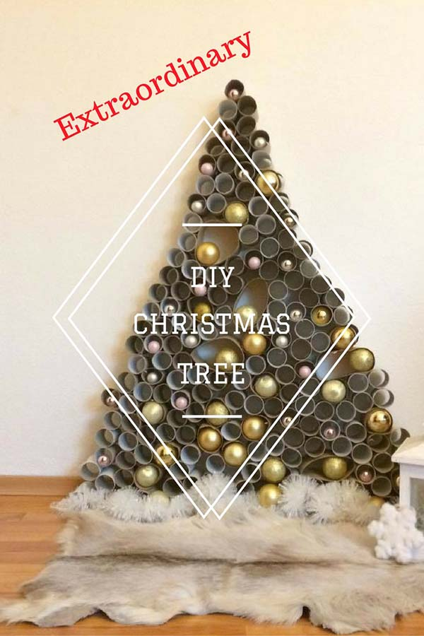DIY Christmas Tree #Christmas #Christmasdecor #budget #diy #decorhomeideas