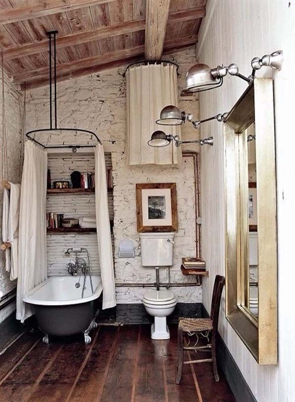 Farmhouse Design Bathroom Tub