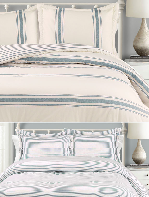Farmhouse Stripe Bedroom Comforter Set #rusticbedroom #rustic #bedroom #farmhouse #decorhomeideas