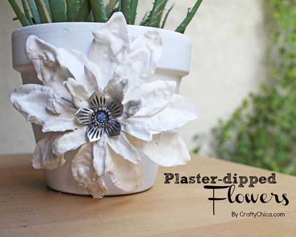 Flower Pot Plaster Dipped Flower Decoration