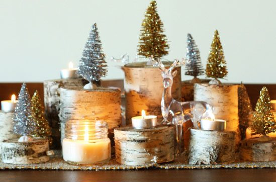Glamorous Birch Centerpiece #Christmas #Christmasdecor #budget #diy #decorhomeideas