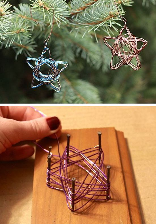 Handmade Star Wire Ornament #Christmas #Christmasdecor #budget #diy #decorhomeideas