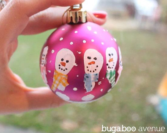 Handprinted Snowman Ornament #Christmas #Christmasdecor #budget #diy #decorhomeideas