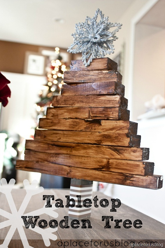 Homemade Tabletop Wooden Tree #Christmas #Christmastree #homemade #DIY #Christmasdecor #decorhomeideas
